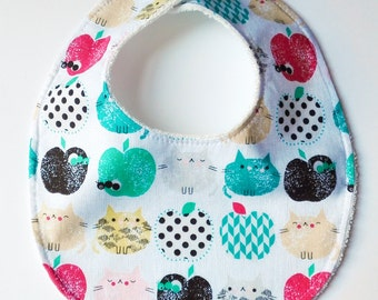"""Apple & Cat"" bib"