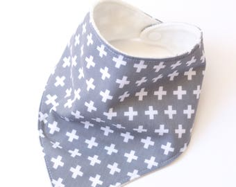 "Bandana with absorbent sponge ""more fantasy-grey background"""