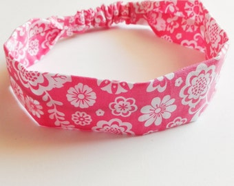 "Hair band for little girl ""pink flowers"""