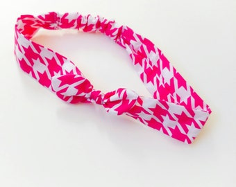 "Hair band for baby girl or for Mother ""pied de poule"""