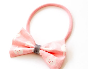 "Hair band with bow all sizes ""Bunnies"""