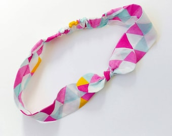 "Hair band for baby or for mom ""triangles"""