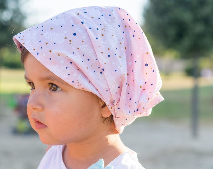 """Featured listing image: Bandana for Baby """"feathers"""""""