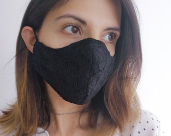 """""""PIZZO BLACK"""" filter pocket mask Available in all sizes"""