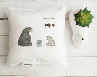 """20x20 hand-painted cushion """"I love you dad!"""""""