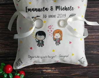 Customizable Harry Potter themed wedding Pillow