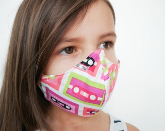 """""""MUSICASSETTE"""" filter pocket mask Available in all sizes"""