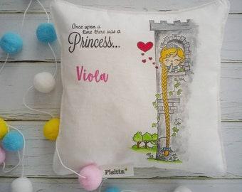 "Hand painted Cushion 20x20 ""Little Princess"""