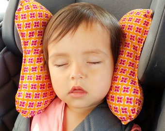 "Ergonomic cushion for children ""retro Flowers"""