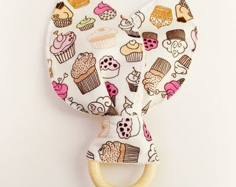 "Teether Ring-teething ring ""cupcake"""