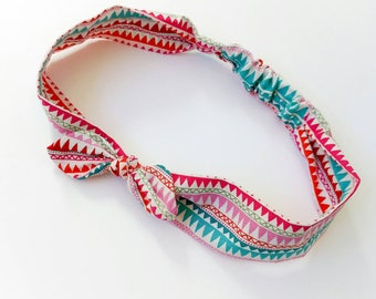 "Hair band for children or for mother ""geometric"""