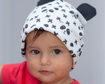 """Panda"" organic cotton cap with ears"