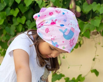 "Bandana for girls ""cats and Mice Little Mermaid!"""