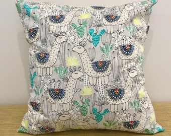 Llama Design Cushion Cover Throw Pillow. 18' (45cm) . Cushion Covers Made Australia