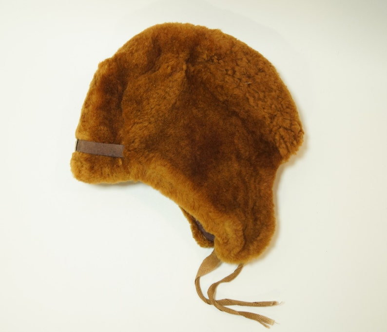 72016e698e7 NEW Ushanka Hat Russian Soviet USSR real fur sheep cap boy