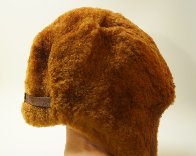 NEW Ushanka Hat Russian Soviet USSR real fur sheep cap boy Children Retro Vintage brown trapper kid brown chocolate ear flap