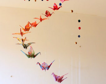 Origami mobile for baby
