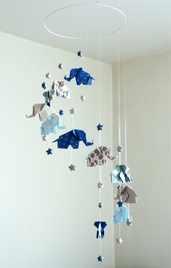image 0 - Fabriquer Mobile Bebe Origami