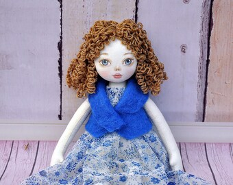 ballerina dolll, Textile Doll, Tilda Doll