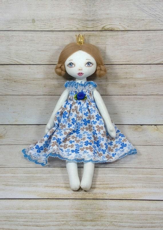 Little Textile Princess Doll Handmade Small Soft Doll Fairy Rag Doll