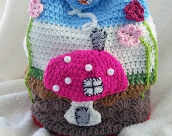 Crochet kids bag, children bag, handmade bag, crochet children backpack,crochet purse, crochet kindergarten bag, handmade crochet backpack
