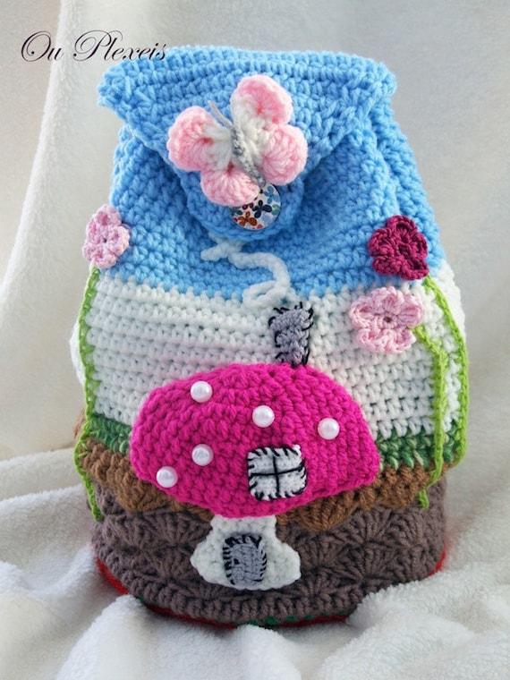 Kinder Tasche Tasche Für Kinder Handgemachte Tasche Häkeln Etsy