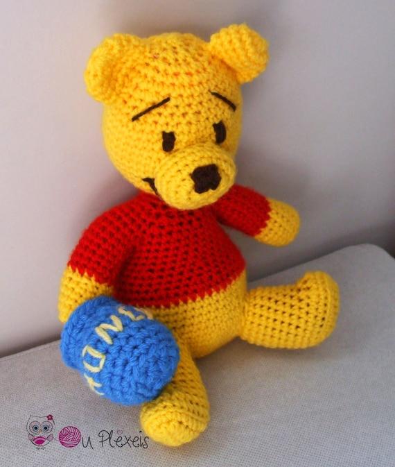 Teddy Bär Winnie Der Pooh Amigurumi Winnie Häkeln Bär Etsy