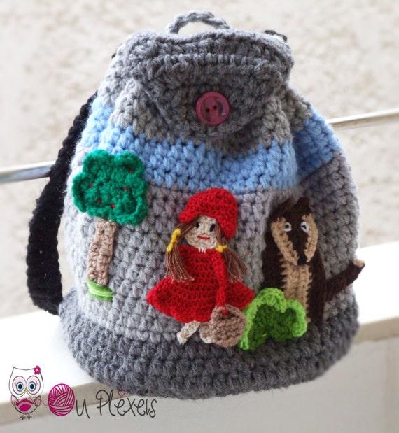 Schultasche Little Red Riding Hood Handgemachte Tasche Etsy