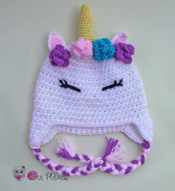 Crochet Unicorn Baby Hat Etsy