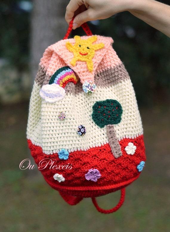 Häkeln Sie Kinder Tasche Tasche Für Kinder Handgemachte Etsy