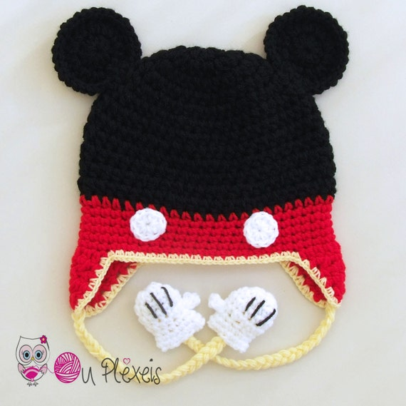 Crochet Mickey Mouse hat Mickey Mouse beanie boys hat  da1052cccd0