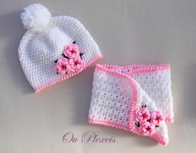 Set cappello e sciarpa all uncinetto crochet bambino  001e811cf58c