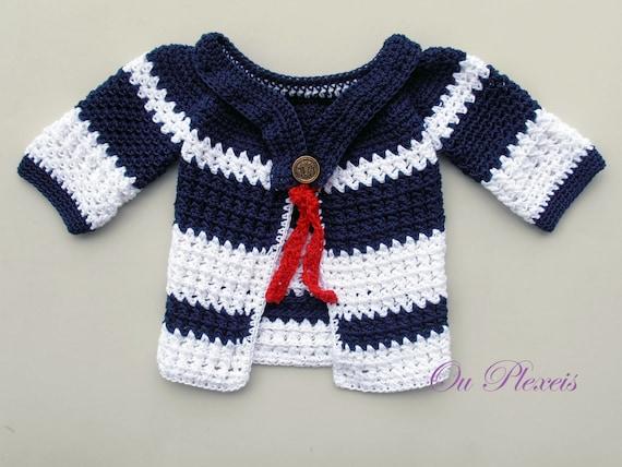 Baby Strickjacke häkeln Mädchen Strickjacke jungen Pullover | Etsy