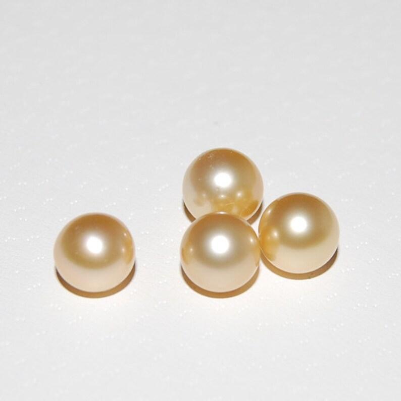 3ba004323110 Granos de perlas de agua salada oro perlas del mar del sur