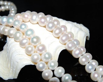Potato Pearl Strands 9-10mm Real Freshwater Pearl Necklaces