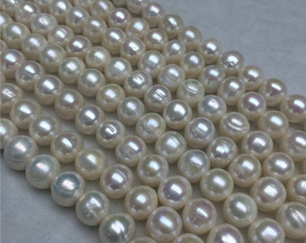 12-13mm AA- Potato Freshwater Cultured Pearl Bead Strand,Large Pearl Strands