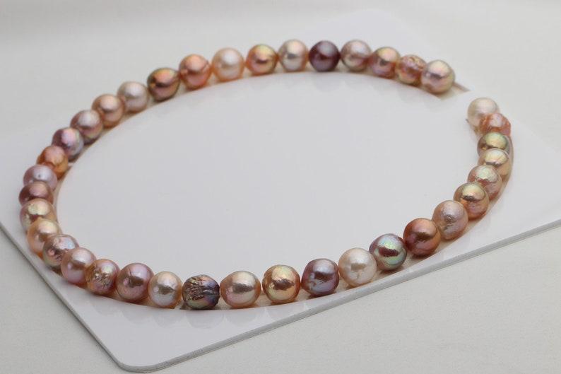 Natural Metallic Multi-color Edison Baroque Pearls,S03
