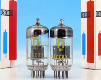 2x Matched ECC83 12AX7 RFT Anna Seghers Neuhaus Electrically Tested Double Triode Hi-Fi Audiophile Military Steampunk Audio Tube Pair B339