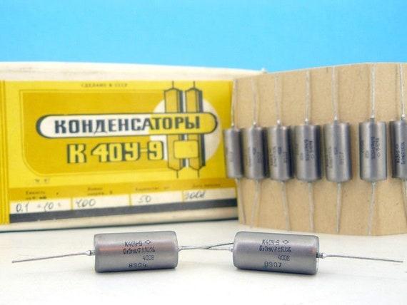 PIO Capacitors МБГО-2 NOS Made in USSR 30uF 10/%, 160V - 2x MBGO-2 -