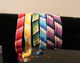 Ombre Striped Woven Friendship Bracelet
