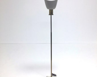 742c073fd750 Vintage brass and marble floor lamp with metal perforated shade