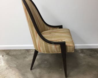 Midcentury modern Gondola slipper chair by Harvey Probber