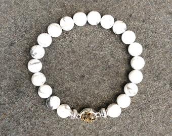 White Howlite Shore Line Sand Bracelet