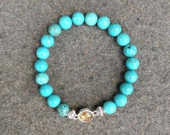 Turquoise Magnesite Shore Line Sand Bracelet