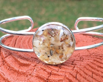 NEW! Shore Line Sand and Shell Cuff Bracelet