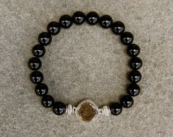 Black Onyx Shore Line Sand Bracelet