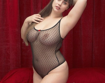 800f1b1014f81 LILLIAS Plus Size Sexy Bodysuit.Sheer bridal Lingerie.Erotic lingerie.See  through lingerie.Sexy lingerie.Handmade.