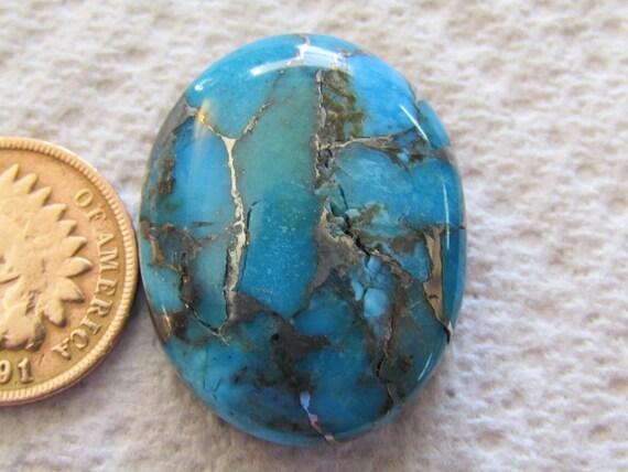 Mojave Green Turquoise and Bronze Matrix Earring  /& Pendant Set Cabochons