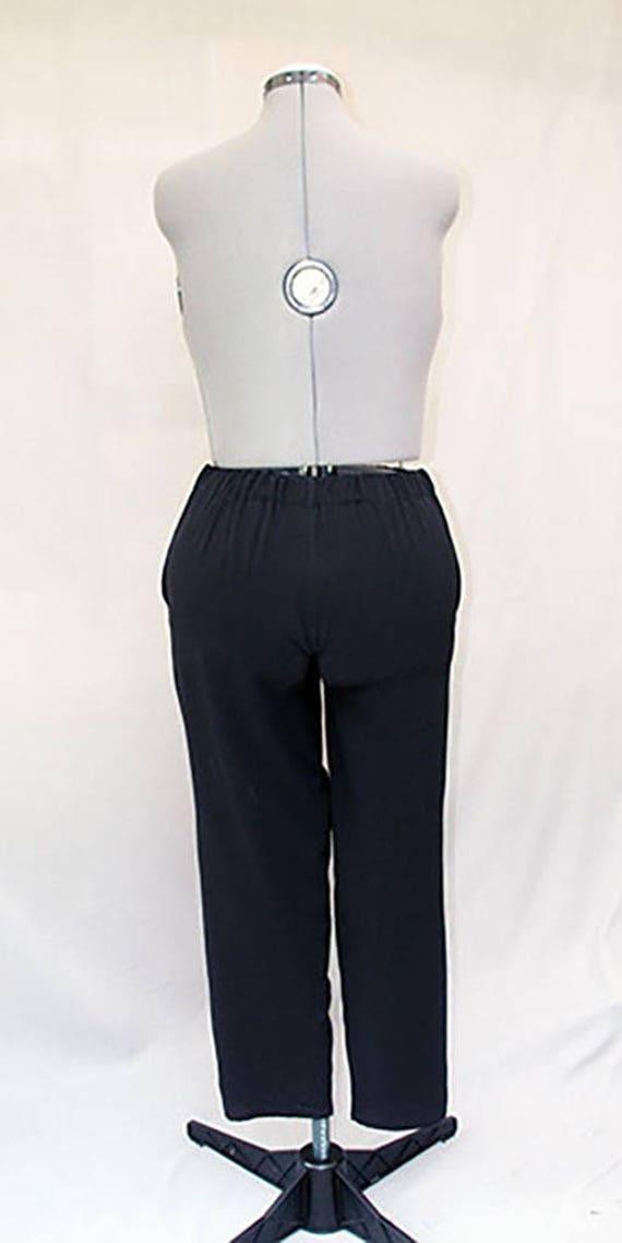 5fbb76514 Black crepe fabric women pants elastic waist women pants | Etsy