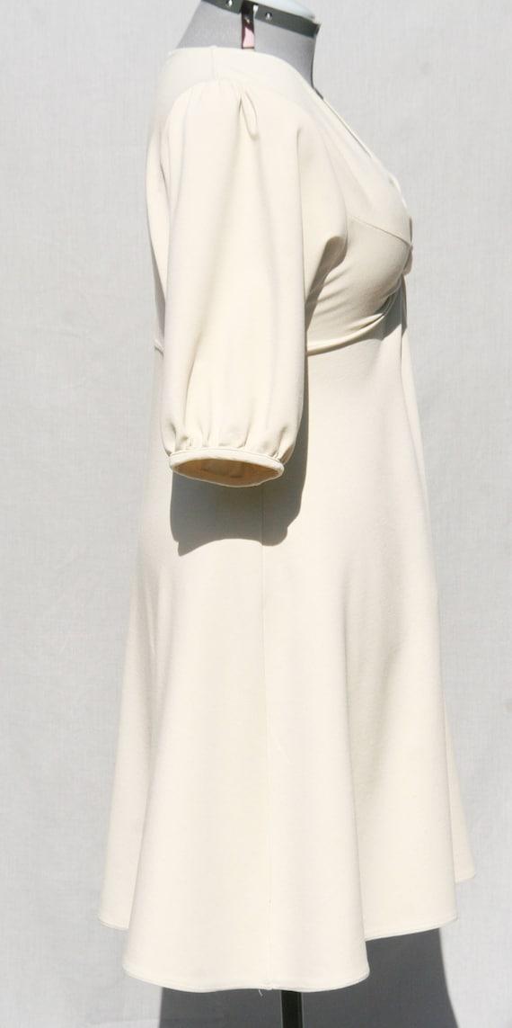 Ivory Jersey Dress